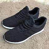 Adidas UltraBoost Flyknit Black/White, фото 2