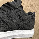 Adidas UltraBoost Flyknit Black/White, фото 6