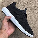 Adidas UltraBoost Flyknit Black/White, фото 8