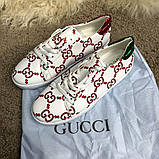 Gucci Ace Sneaker with GG Print White, фото 8