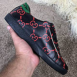 Gucci Ace Sneaker with GG Print Black, фото 3
