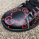 Gucci Ace Sneaker with GG Print Black, фото 6