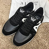 Emporio Armani AJ Sneakers Black/White, фото 3