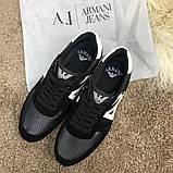 Emporio Armani AJ Sneakers Black/White, фото 4