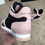 Philipp Plein Runner Sky Pink/Black, фото 4
