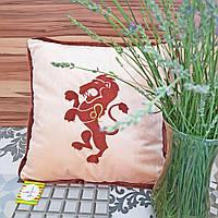 Мягкая подушка в виде зодиака Льва (подушка знак зодиака Лев)