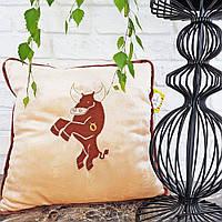 Мягкая подушка в виде зодиака Тельца (подушка знак зодиака Телец)