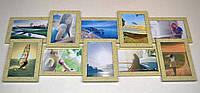 Пластиковая мультирамка на 10 фото История 10, леопардового цвета