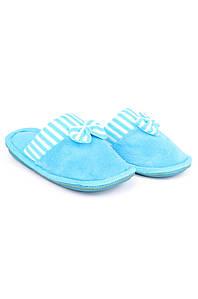 Тапочки комнатные девочка голубые AAA 126542P