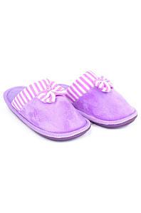 Тапочки комнатные девочка фиолетовые AAA 126540P