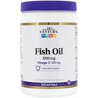 Fish Oil 1000mg - 300капсул - 21 Century