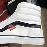 Vans Sk8 Hi Chex Skate Shoes White, фото 2