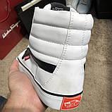 Vans Sk8 Hi Chex Skate Shoes White, фото 3