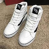 Vans Sk8 Hi Chex Skate Shoes White, фото 6