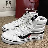 Vans Sk8 Hi Chex Skate Shoes White, фото 9