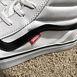 Vans Sk8 Hi Chex Skate Shoes White, фото 10