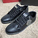 Philipp Plein Lo-Top Sneakers Hexagonal Black, фото 2