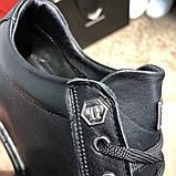 Philipp Plein Lo-Top Sneakers Hexagonal Black, фото 9