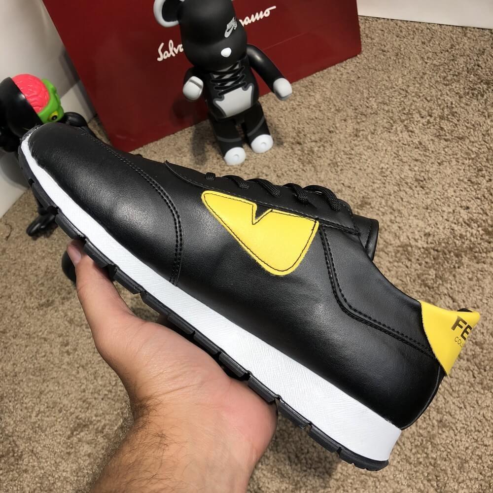Fendi Sneakers Monster Eyes Yellow/Black
