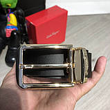 Ferragamo Belt Reversible And Adjustable Gold/Black, фото 5