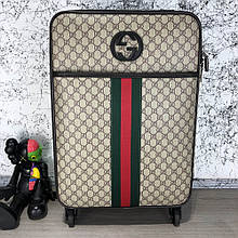 Gucci Rolling Luggage Signature 55 with Web Beige