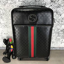 Gucci Rolling Luggage Signature 55 with Web Black