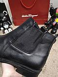 Zara Classic Leather Boots Black, фото 2