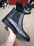Zara Classic Leather Boots Black, фото 4