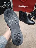 Zara Classic Leather Boots Black, фото 6