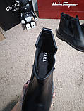 Zara Classic Leather Boots Black, фото 8