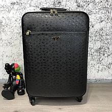 Prada Rolling Luggage Ostrich 55 Black