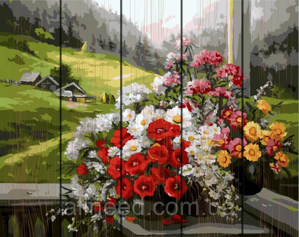 """Картина по номерам на дереве. Rainbow Art """"Горный букет"""" GXT9500-RA"""