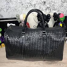 Bottega Veneta Large Duffel Bag In Nero Intrecciato VN