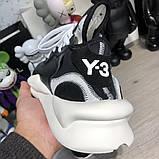 Adidas Y-3 Kaiwa Sneakers Black/White, фото 9