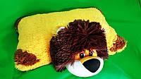 Детская Мягкая игрушка подушка 45 см 7 видов Лев Панда Корова Божья Коровка Овечка Пчелка Хаски