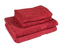 Полотенце махровое красное (70х140 см) для ежедневного использования, фото 1