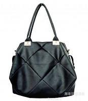 Женская стильная кожаная сумка мешок.
