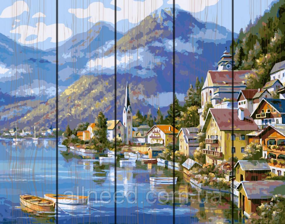 "Картина по номерам на дереве. Rainbow Art ""Живописная Австрия"" GXT6936-RA"