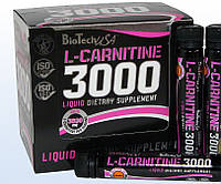 L-carnitine 3000 BioTech 20 ampule x 25 ml Апельсин