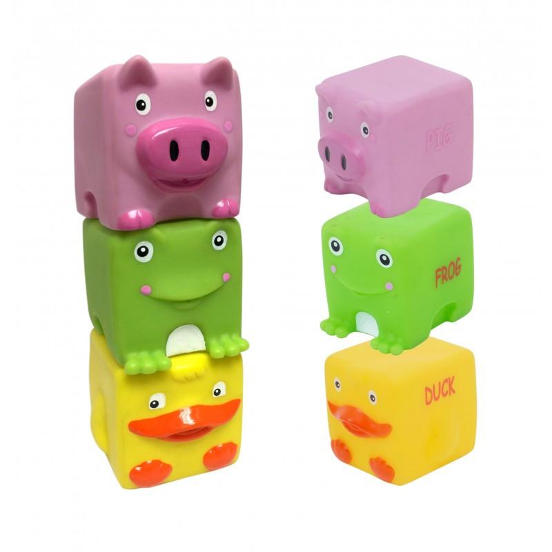 """Набор игрушек для ванны """"Кубики-зверьки"""", 3 шт 9051"""