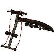 Тренажер для пресса и мышц спины, гантели, 2 эспандера, фото 2