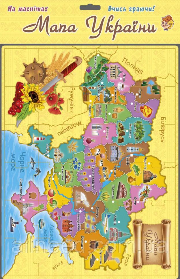 Карта Украины на магнитах Пазл