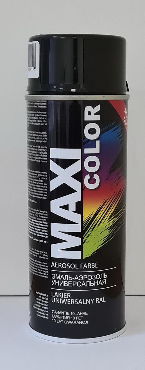 Краска (эмаль) MAXI COLOR аэрозольная, на алкидной основе,  цвет - RAL9011  GRAPHITSCHWARZ, баллончик 400 мл