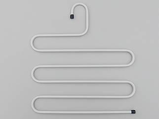 Плечики вешалки тремпеля для брюк  металлические белого цвета лестница 5-ти ярусная, длина 33 см