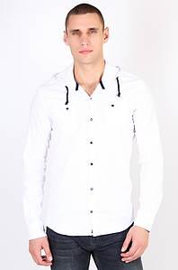 Рубашка мужская c капюшоном белая размер 2XL Well Done 123617P