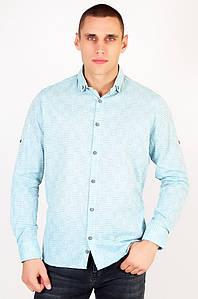 Рубашка мужская батальная мятная Well Done 123437P