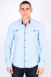 Рубашка мужская голубая размер S AAA 123481P
