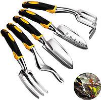Набор садовый Lesko CG-7101B из 5 предметов для сада огорода комплект ручных инструментов