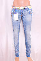 Женские джинсы MISS CURRY с декором карманов