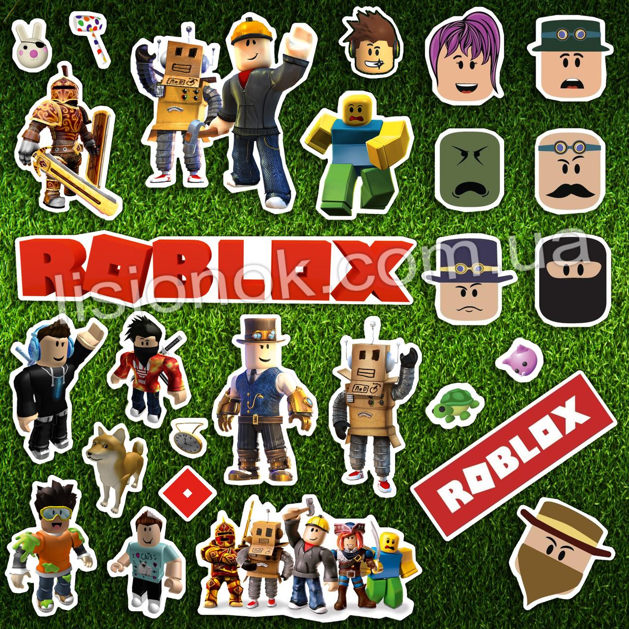 Набор наклеек Роблокс с героями любимой игры, стикеры Roblox